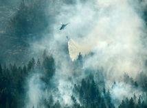 Švédsko, lesný, požiar