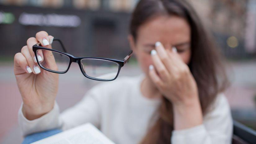 bolesť hlavy, únava, zrak, oči, okuliare,...