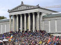 Nemecko Mníchov protest