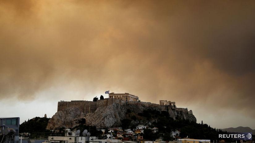 Grécko, Atény, požiar