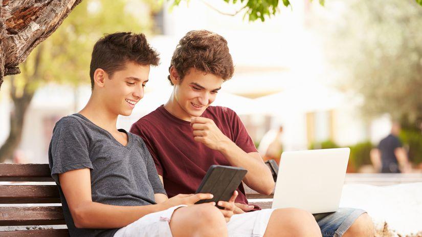 deti, počítačové hry, tablet, chlapci, počítač