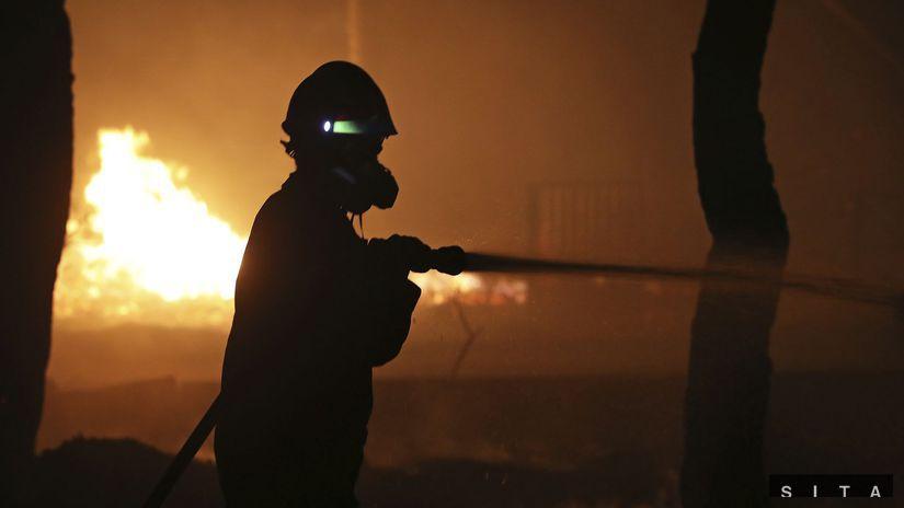 Grécko, požiar