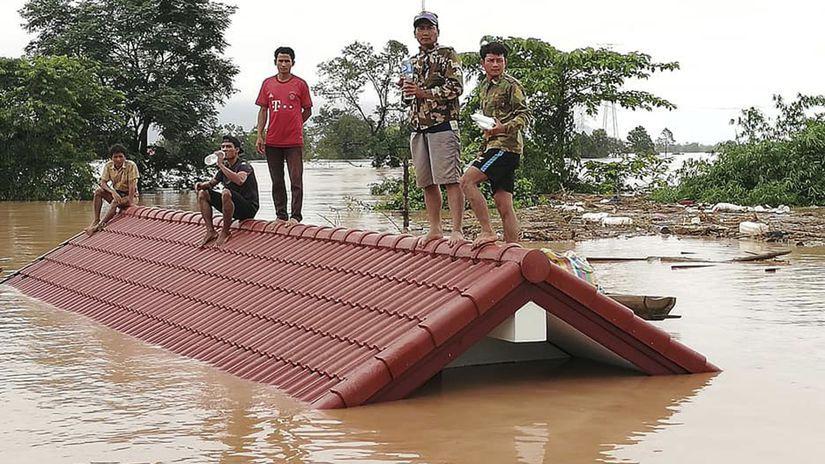 Laos priehrada pretrhnutá nezvestní