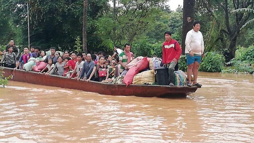 Laos, kolaps, priehrada
