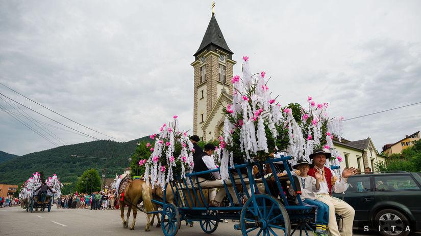 TERCHOVÁ: Konský vozový sprievod - Jánošíkove dni