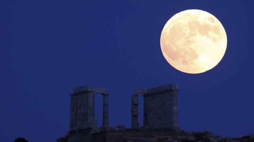 Grécko astronómia Mesiac zatmenie Mars