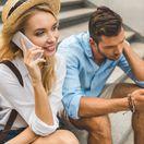 žena, muž, telefón, telefonovanie