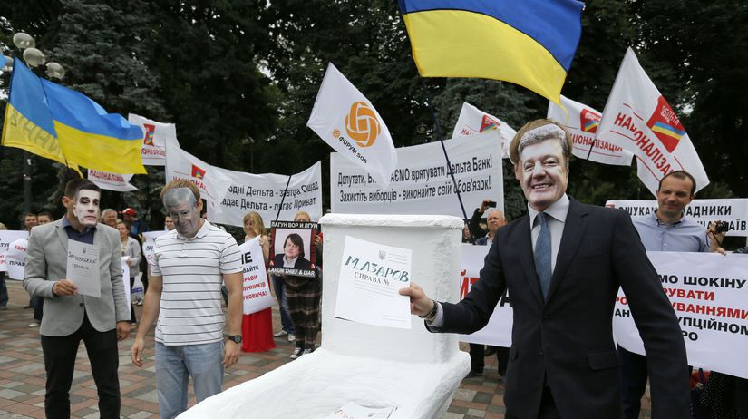 Petro Porošenko, Ukrajina, demonštrácia