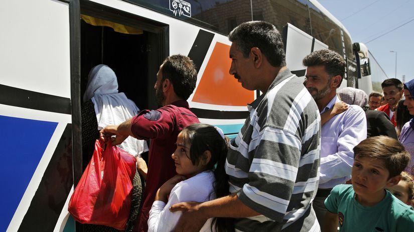 utečenci, sýria, hraničný priechod Masná