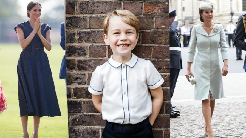 Vojvodkyňa Meghan, princ Geoge a vojvodkyňa Kate