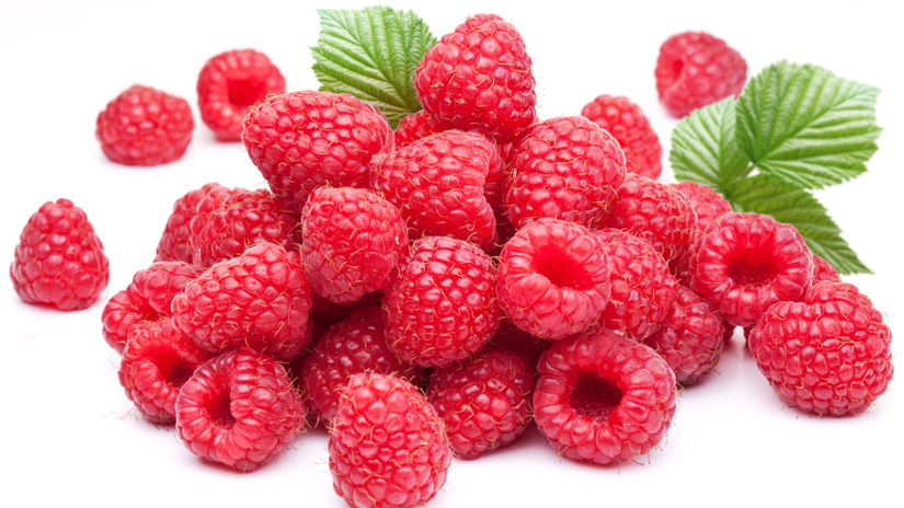 maliny, bobuľové ovocie