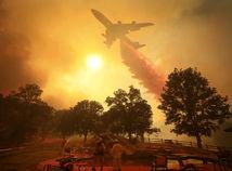 Kalifornia, požiar, les, lietadlo