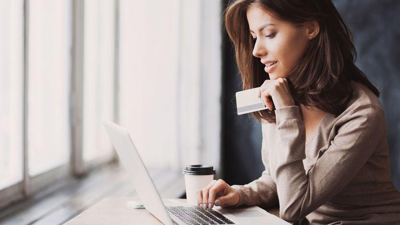 nákup cz internet, žena, počítač