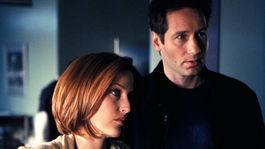Herečka Gillian Anderson ako špeciálna agentka Dana Scully a David Duchovny ako špeciálny agent Fox Mulder.