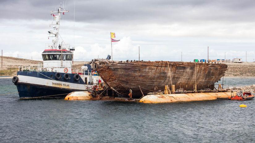 maud, Amundsen, expedícia, loď, vrak