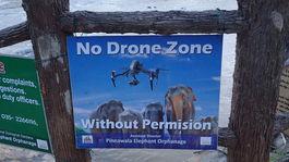 Srí Lanka dron Pinnawala slony
