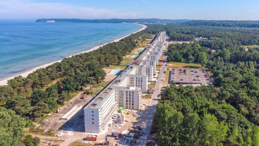 Prora, Baltské more, pláž, nacistická rekreácia