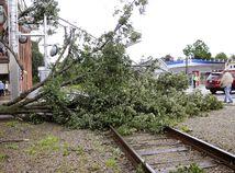 búrka, strom, počasie, železnica,