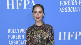 Herečka Amber Heard na akcii Hollywood Foreign Press Association nechýbala.