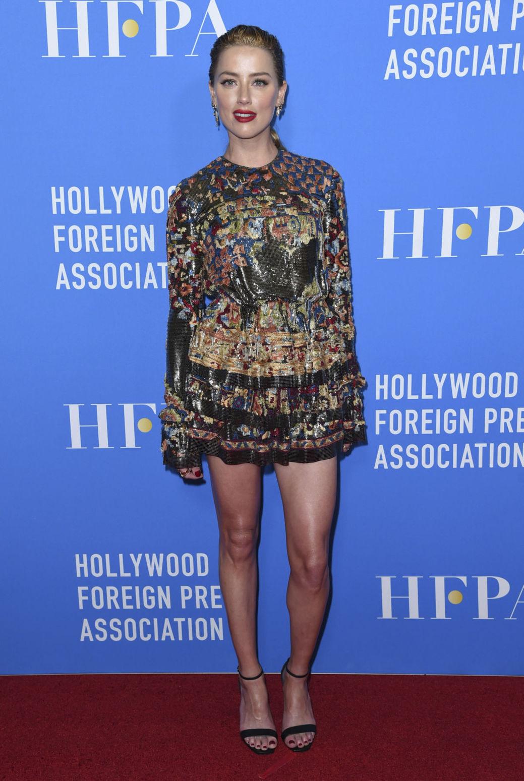 Herečka Amber Heard na akcii Hollywood Foreign...