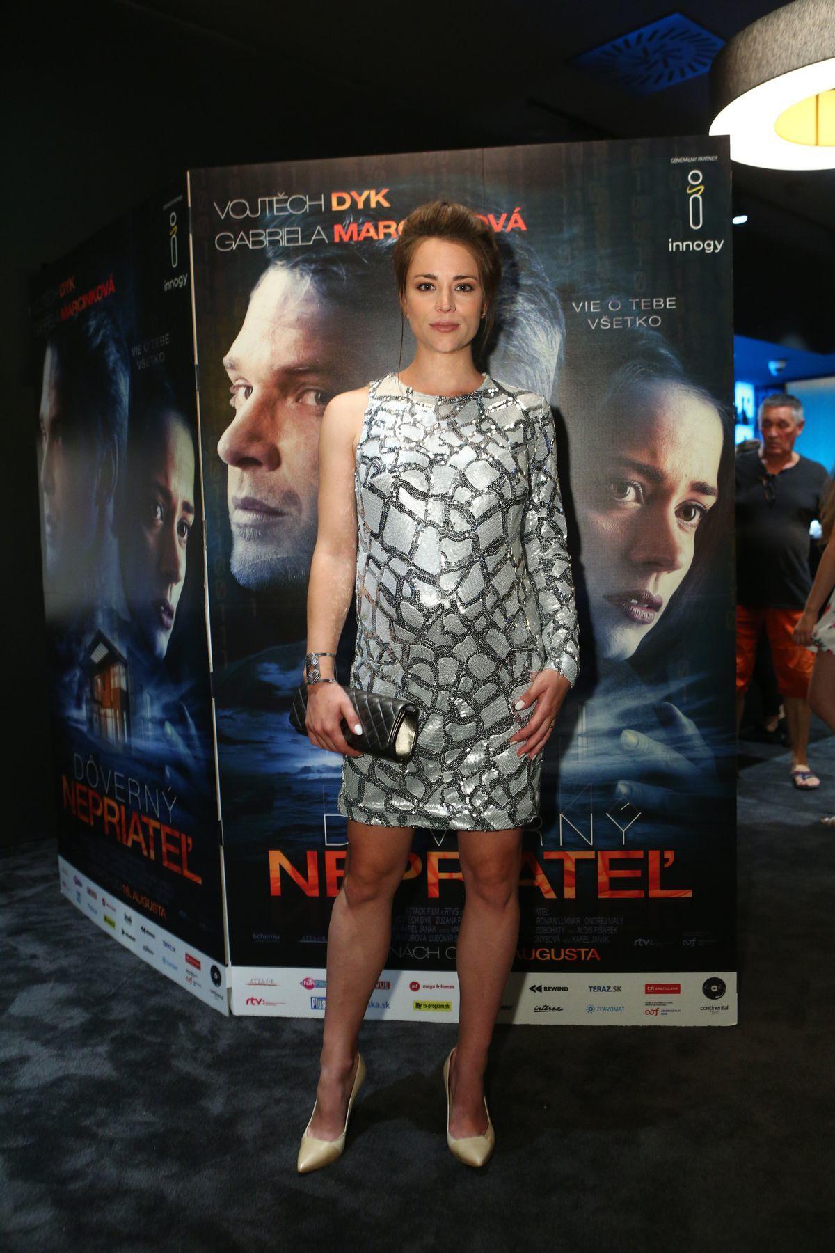 Herečka Gabriela Marcinková na premiére filmu...