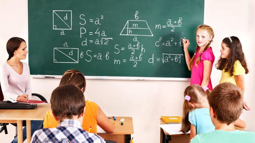 žiaci, škola, učitelia