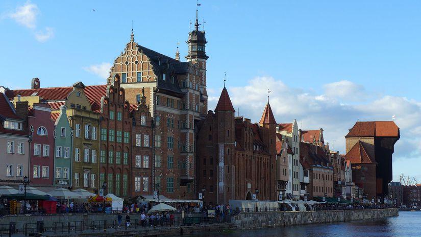 Moltava, nábrežie, Poľsko, Gdansk