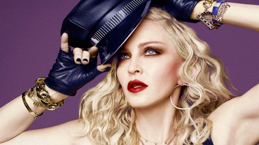 Speváčka Madonna.