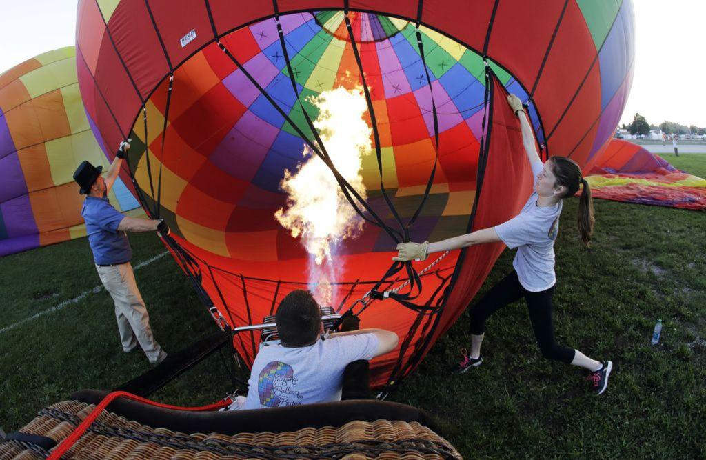 Indiana, balón, teplovzdušný balón