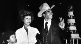 Speváčka Aretha Franklin na zábere z roku 1978 s jej manželom Glenom Turmanom.