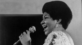 Záber z roku 1972: Speváčka Aretha Franklin.
