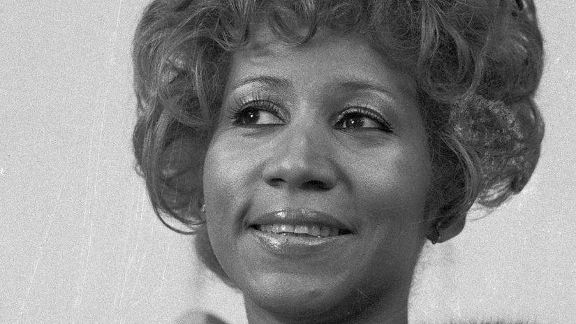 Záber z roku 1972: Speváčka Aretha Franklin s...