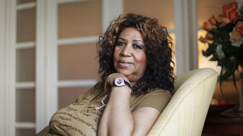 Záber z roku 2010, na ktorom Aretha Franklin...