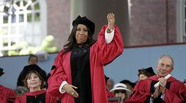 Záber z roku 2014: Speváčka Aretha Franklin.