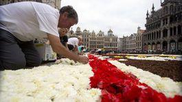 Belgicko Brusel kvetinový koberec