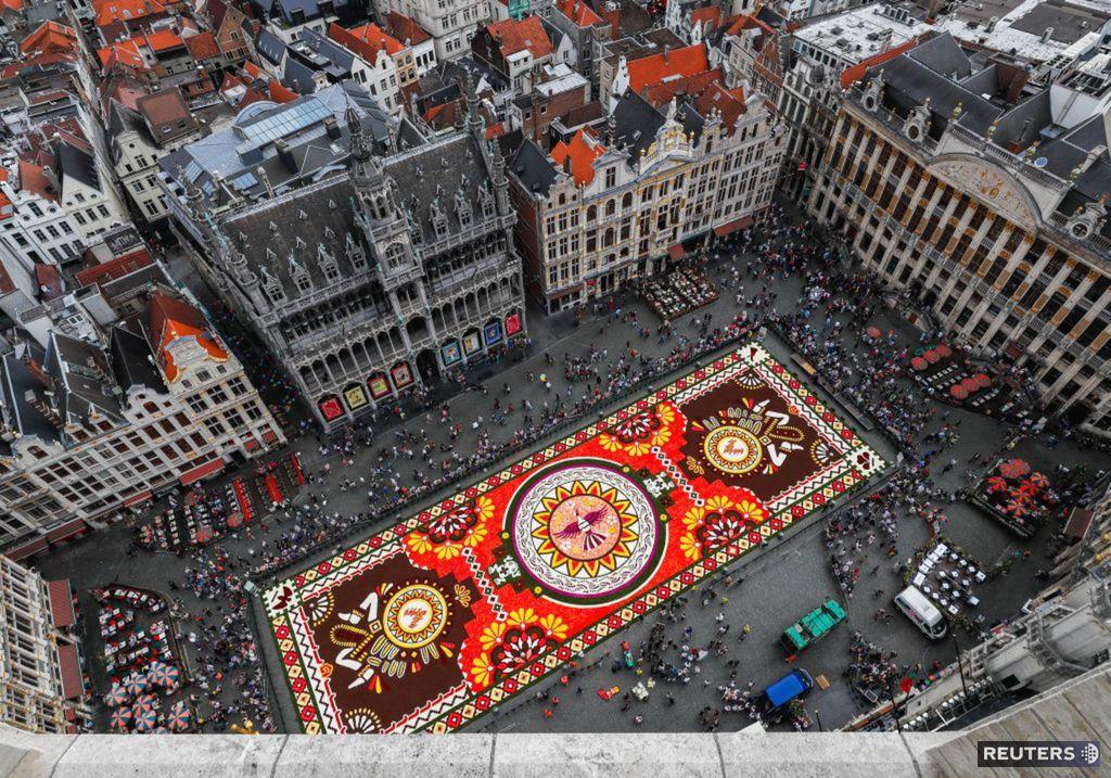 Brusel, kvetinový koberec