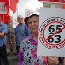 Rusko reforma dôchodková protesty