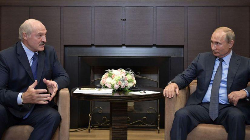 Rusko Bielorusko Putin Lukašenko