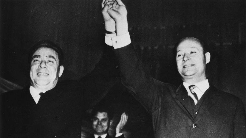 Leonid Brežnev, Alexander Dubček, 1968