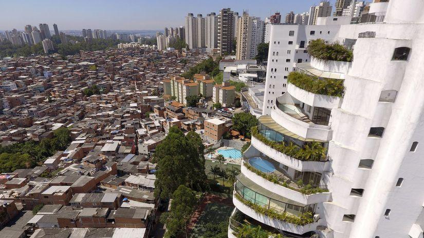 brazília, São Paulo, slum Paraisópolis,