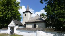 Ludrová, záhadný románsko-gotický kostol, 13. storočie, Fresky,