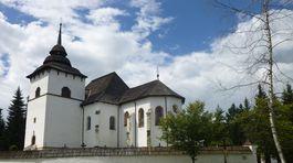Svätomarský kostol Panny Márie, obdobie 1260 - 1280, skanzen v  Pribyline,