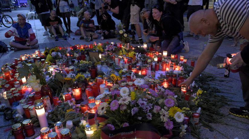 Nemecko Chemnitz zabitie protesty
