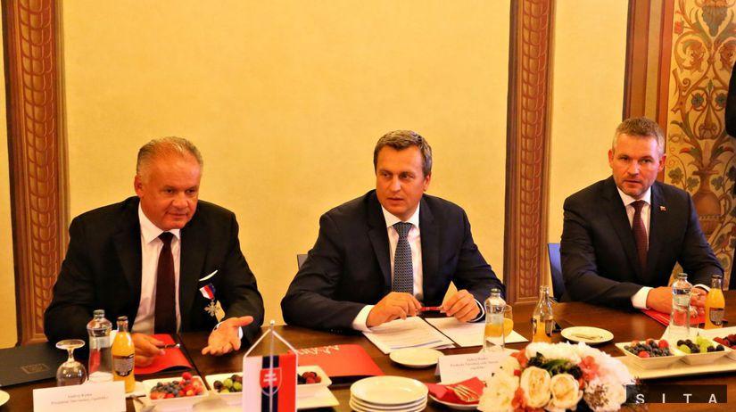 Andrej Kiska, Andrej Danko, Peter Pellegrini