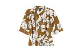 Dámske dlhé šaty s krátkymi rukávmi Lindex, predávajú sa za 49,99 eur.