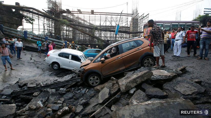 India zrútený most Kalkata