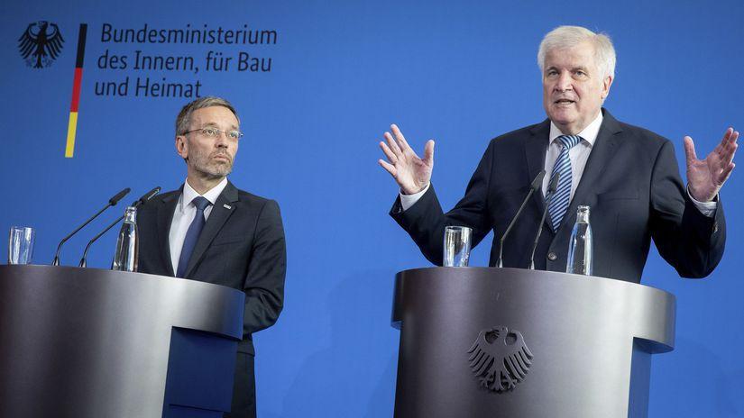 nemecko Rakúsko migračná kríza Kickl Seehofer