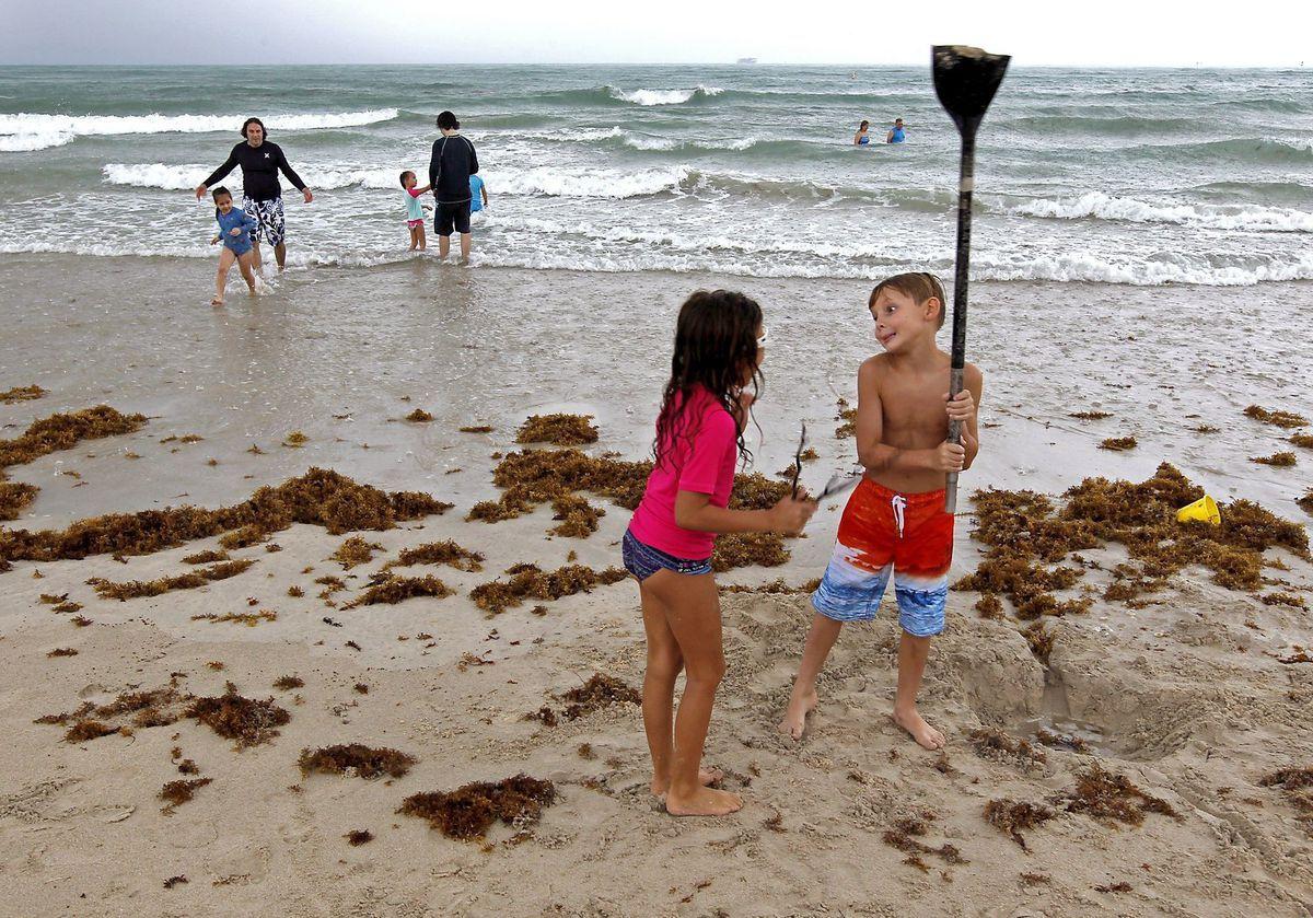 Florida, pláž, deti, more, oceán, hra, dovolenka, cestovanie