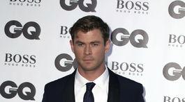 Herec Chris Hemsworth na vyhlásení cien GQ Men of The Year' Awards v Londýne.