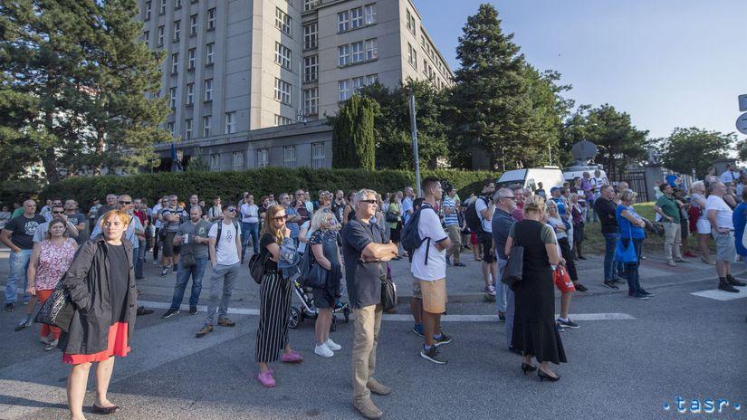 SR Bratislava Vnútro Ministerstvo Protest...